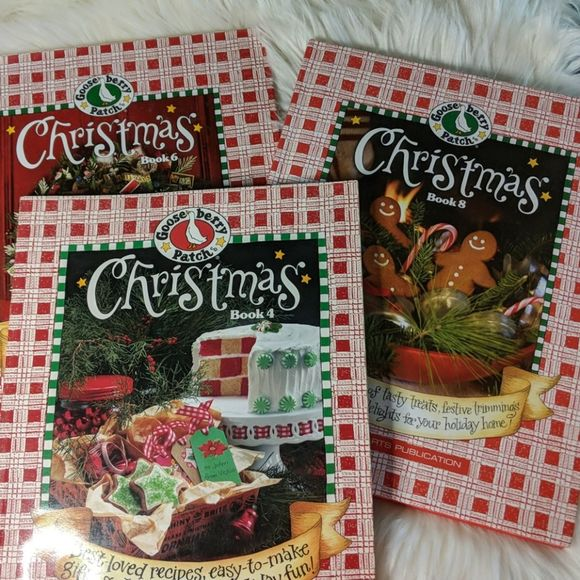 GOOSEBERRY PATCH 3 Christmas Books Volumes 4 6 8